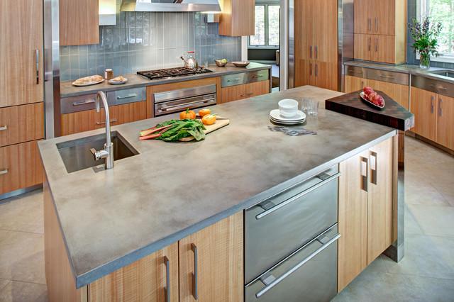 Comptoir de cuisine en béton