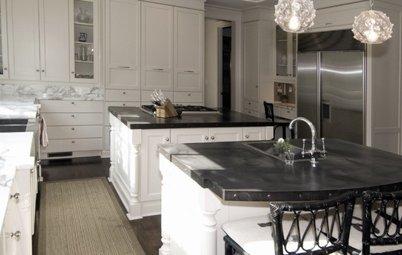 Comptoir de cuisine en zinc