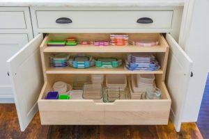tiroir d'armoire de cuisine