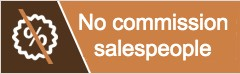 No commission based salespeople for kitchen projects