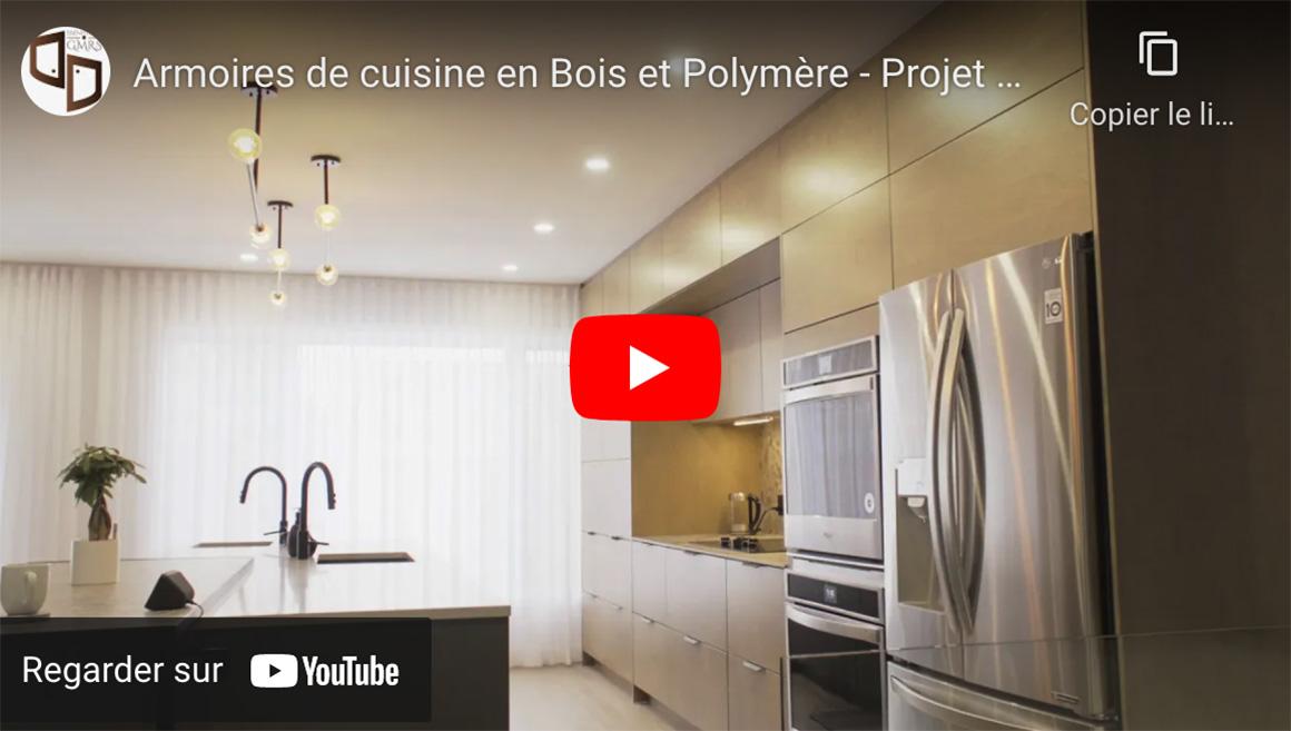 Armoires de cuisine en bois et polymère